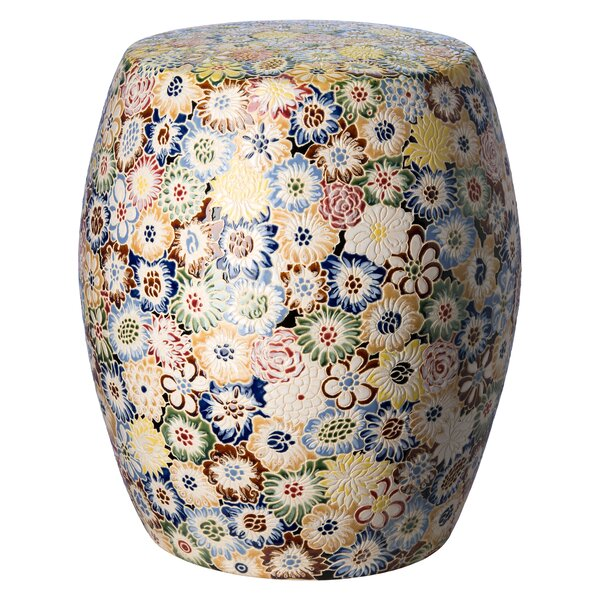 Jacobo Flora Garden Stool by August Grove