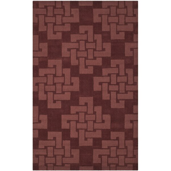 Andria Hand-Tufted Wool Brick Red Area Rug