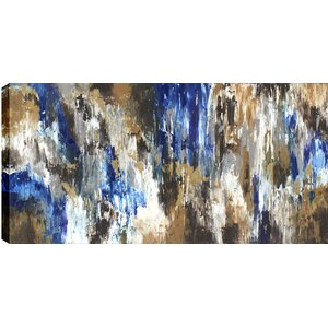 Blue Forest Abstract' by Sanjay Patel Painting Print on Wrapped Canvas by Hobbitholeco.