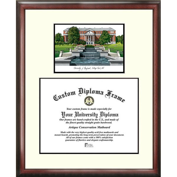 NCAA Maryland University Scholar Diploma Picture Frame by Campus Images