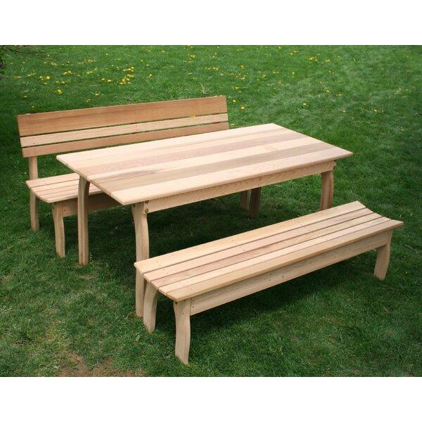 Tifton Cedar Dining Set by Millwood Pines