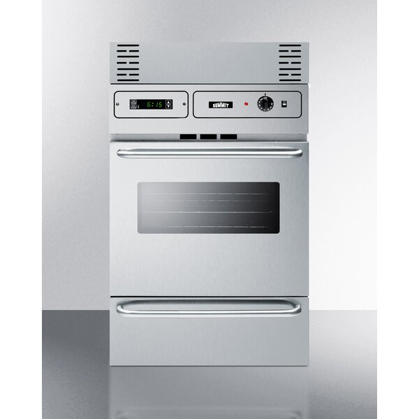 Summit 24 Gas Single Wall Oven by Summit Appliance