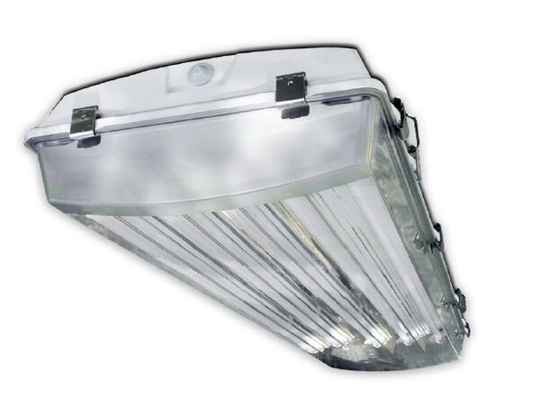 4-Light Vapor Proof High Bay Fluorescent Light Fixture by Howard Lighting