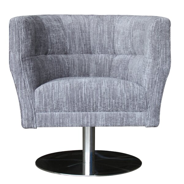 Quickep Swivel Barrel Chair by Rosdorf Park
