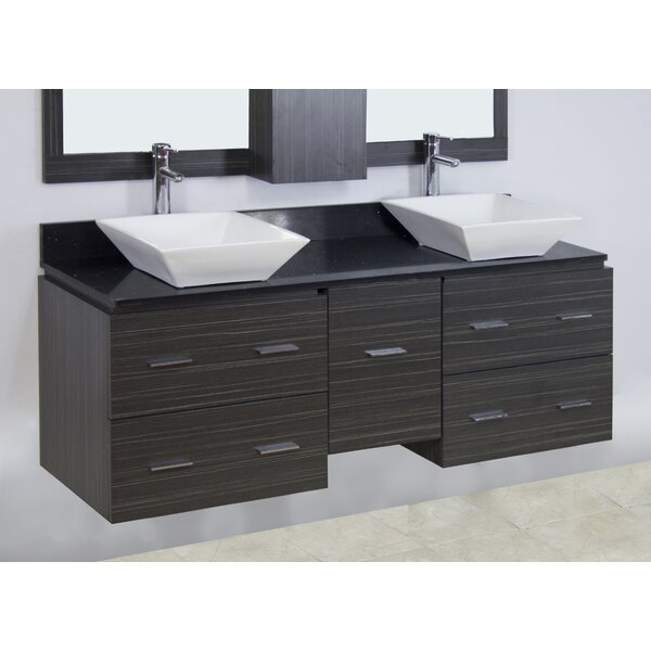 60 Double Modern Wall Mount Bathroom Vanity Set by American Imaginations