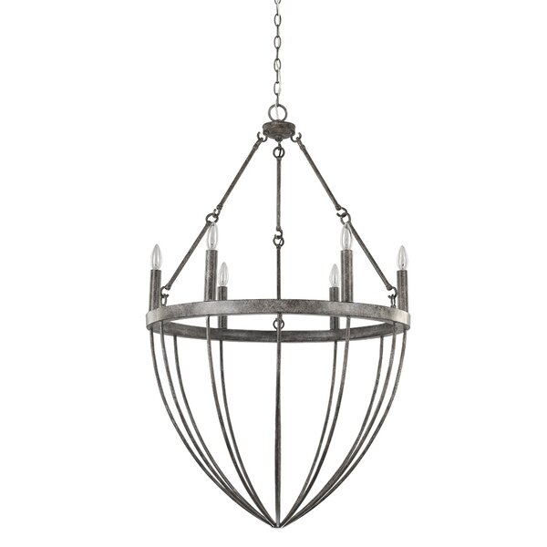 Burhall 6 - Light Candle Style Empire Chandelier by Foundry Select Foundry Select