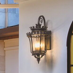 Affordable Price Colfax 3-Light Outdoor Wall Lantern By Fleur De Lis Living
