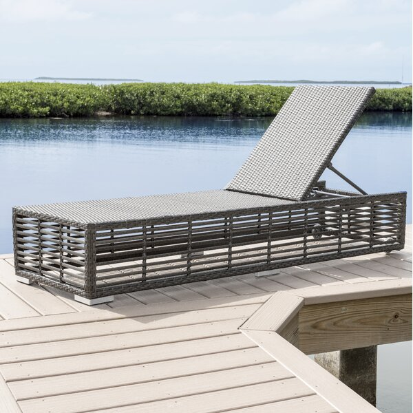 Graphite Chaise Lounge by Panama Jack Outdoor