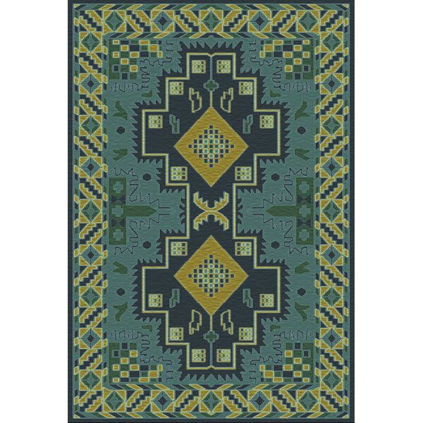 Drachten Green/Teal Area Rug by Bungalow Rose