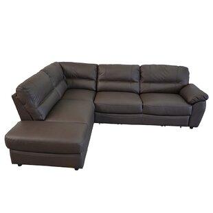 Cleona Leather Sleeper Sectional
