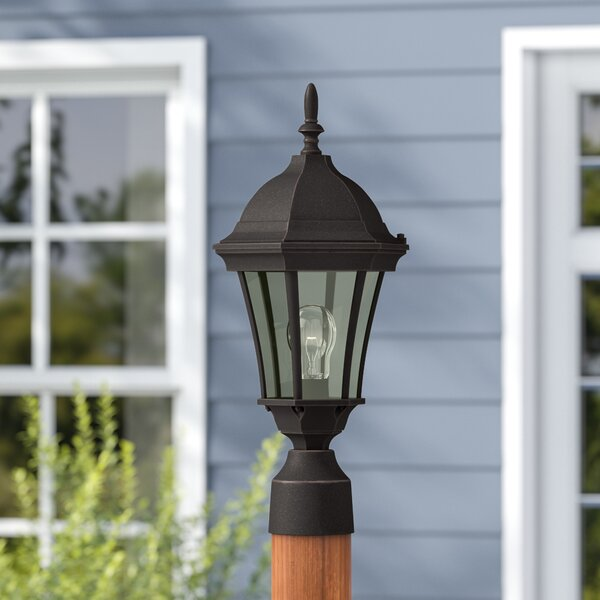 Oakhill 1-Light Black Aluminum Lantern Head by Charlton Home