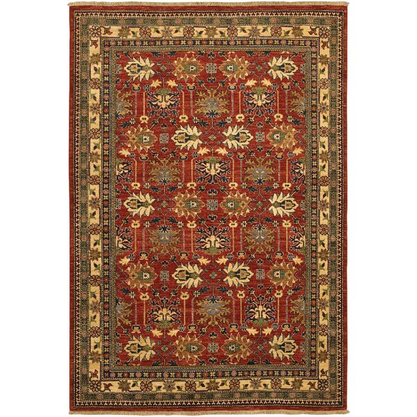 Molley Antique Kazak Hand-Knotted Reddish Clay Area Rug by Bloomsbury Market