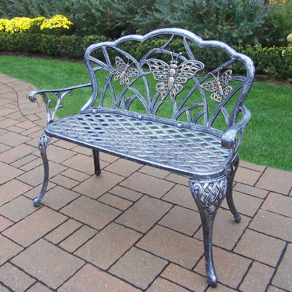 Wensley Aluminum Garden Bench by August Grove August Grove