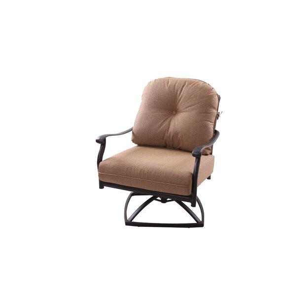 Lenahan Rocker Swivel Patio Chair with Cushion (Set of 4) by Alcott Hill