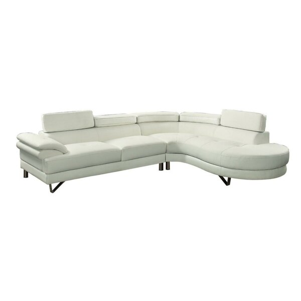 Excellent Reviews Shreffler Right Hand Facing Sectional by Orren Ellis by Orren Ellis