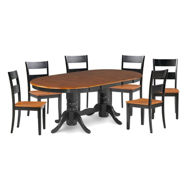 Boula Fulwego Wooden 7 Piece Extendable Dining Set by August Grove