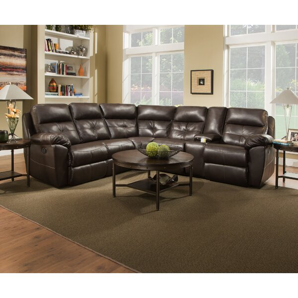 Barnett Simmons Reclining Sectional by Alcott Hill