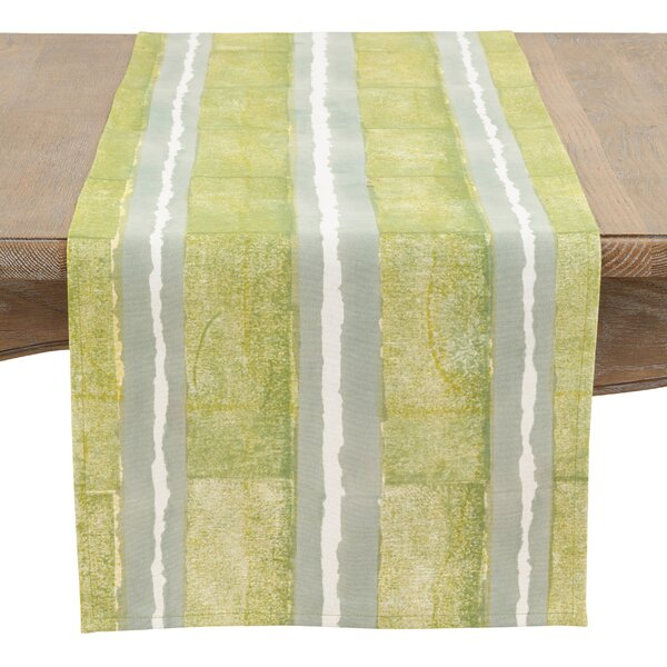 Landsdowne Contrast Stripes Hand Blocked Runner by Bay Isle Home