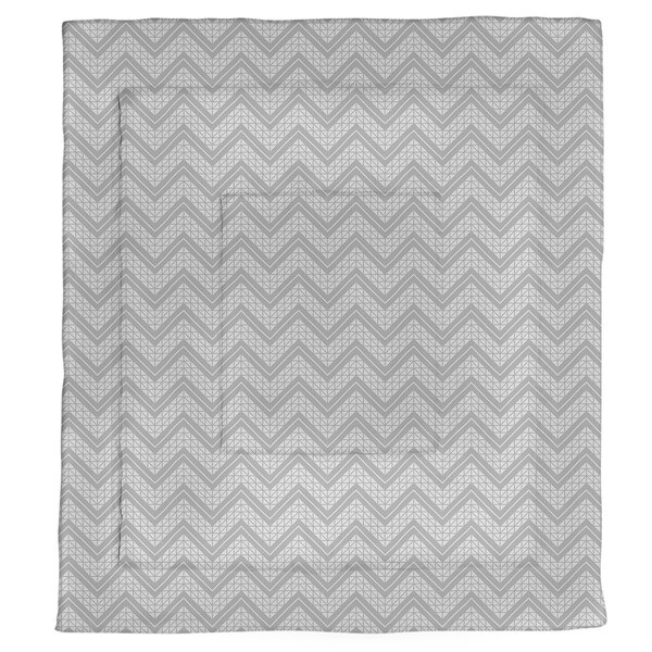 Stephenie Hand Drawn Chevron Pattern Microfiber Single Reversible Comforter