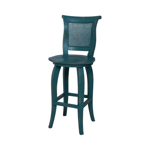 Ernest Hand-Painted Bar Stool by August Grove