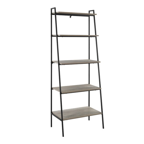 Calhoun Metal and Wood Ladder Bookcase by Williston Forge