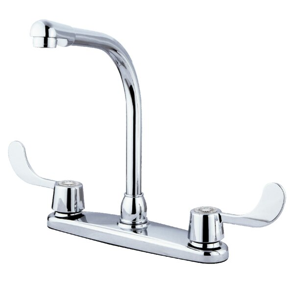 Vista Centerset Double Handle Kitchen Faucet by Kingston Brass