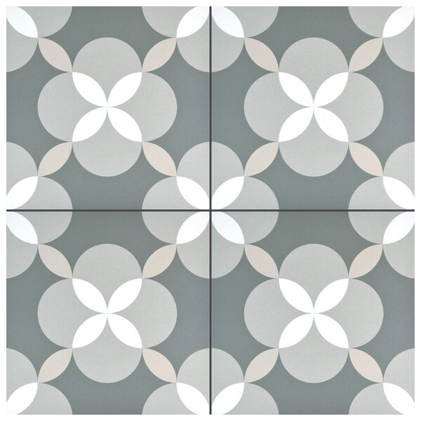 Artiste Atelier 13 x 13 Porcelain Field Tile in Geo Gray by EliteTile