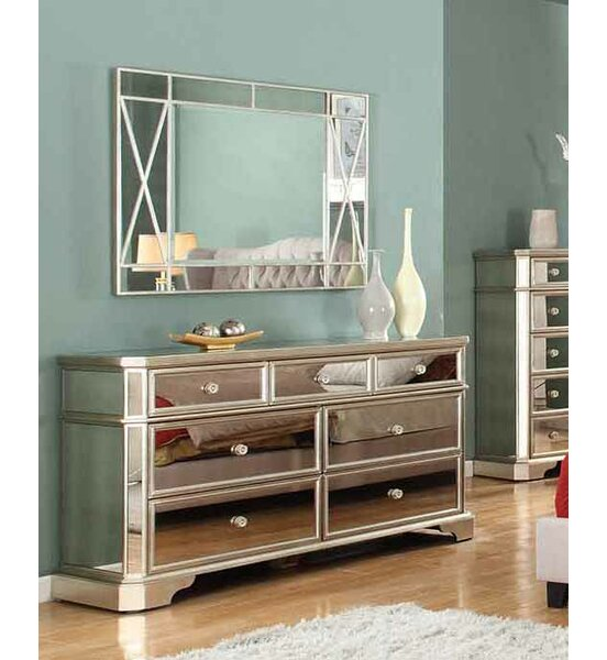 Rojas 7 Drawer Dresser with Mirror by Rosdorf Park