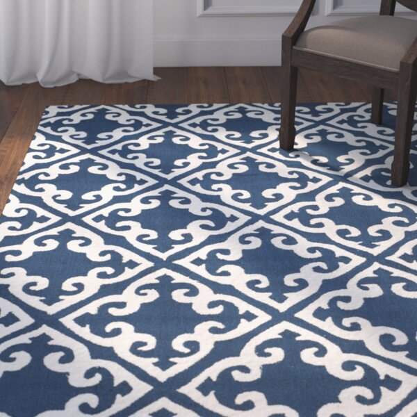 Lima Navy/Ivory Area Rug by Darby Home Co