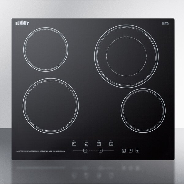 24 Electric Cooktop with 4 Burners by Summit Appliance