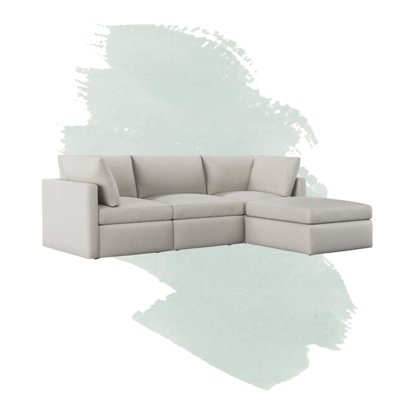 Bailee Reversible Modular Sectional With Ottoman By Foundstone