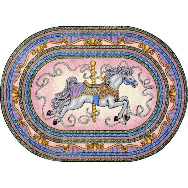 Hand-Tufted Blue/Pink/Yellow Area Rug by The Conestoga Trading Co.