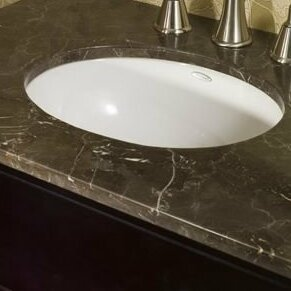 Ovalyn Vitreous China Oval Undermount Bathroom Sink with Overflow by American Standard