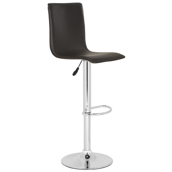 Magda Adjustable Height Swivel Bar Stool by Safavieh
