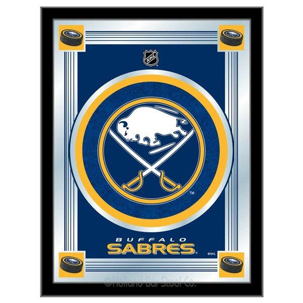 NHL Logo Mirror Framed Graphic Art by Holland Bar