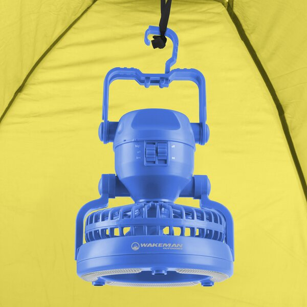 Portable Camping Lantern with Fan by wakeman