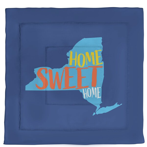 New York Home Sweet Single Reversible Comforter
