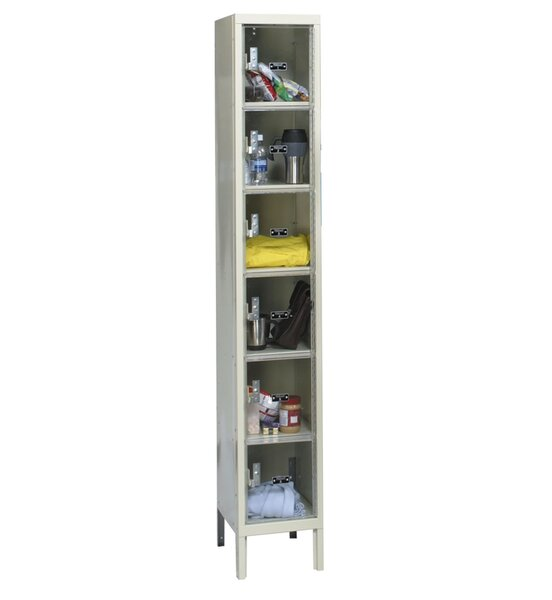 Safety-View 1 Tier 1 Wide Storage Locker by Hallow