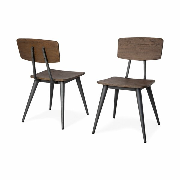 Baeza Solid Wood Dining Chair (Set of 2) by Foundry Select