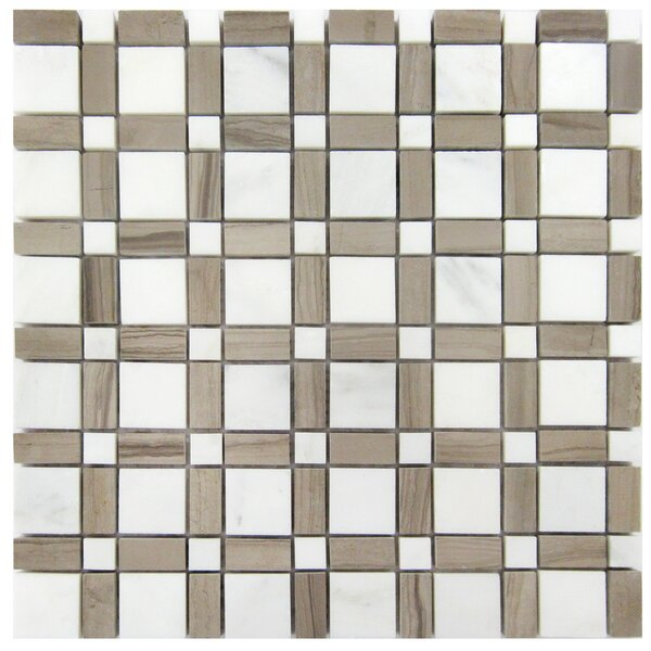 Random Sized Wood Mosaic Tile in Athens Gray by Luxsurface