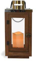 Metal/Wood Lantern by Union Rustic