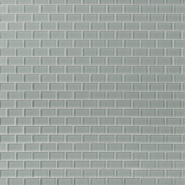 Crystallized 1'' x 2'' Glass Mosaic Tile in Arctic Ice White by MSI