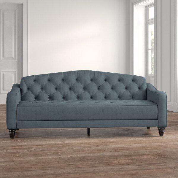 Vintage Tufted Convertible Sofa By Novogratz
