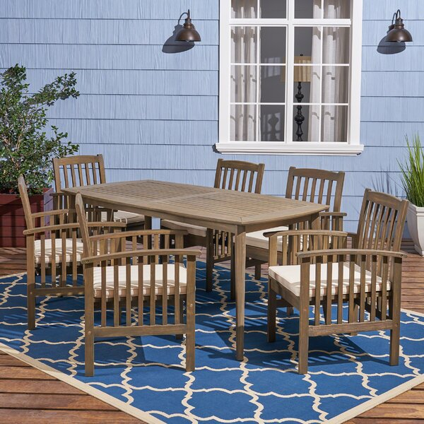 Restivo 7 Piece Dining Set with Cushions by Breakwater Bay
