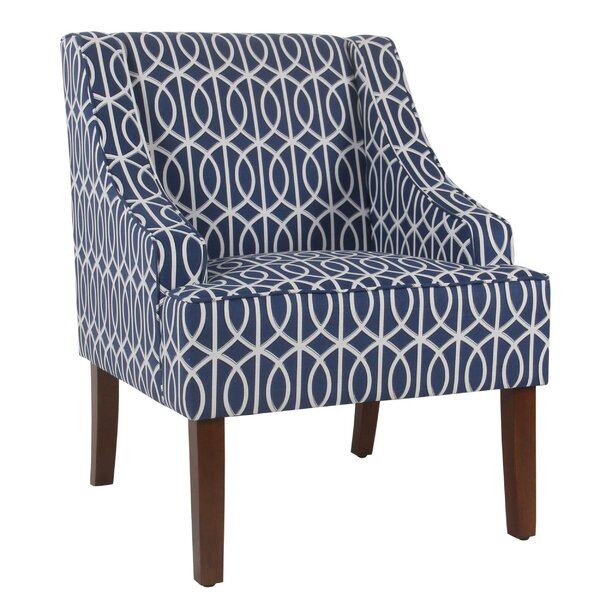 Barnum Wooden Fabric Upholstered Side Chair by Wrought Studio