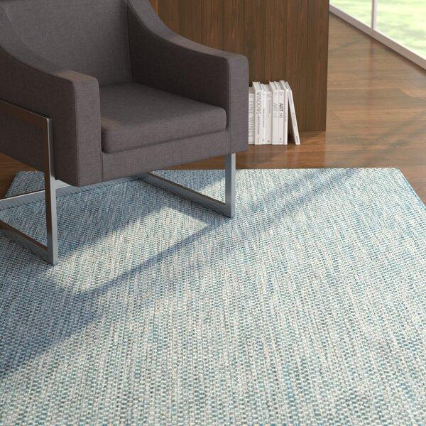 Mullen Navy Bule/Gray Indoor/Outdoor Area Rug by Ebern Designs