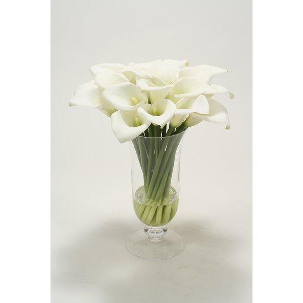 Waterlook Calla Lilies in Glass Vase by Distinctive Designs