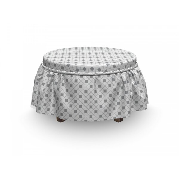 Decorative Ottoman Slipcover (Set Of 2) By East Urban Home