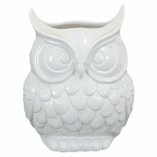 Urban Trends Ceramic Owl Vase Reviews Wayfair