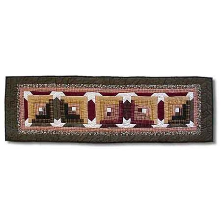 Snowflake Log Cabin Table Runner by Patch Magic